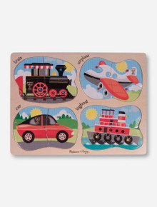Melissa & Doug Texas Tech Wooden Transportation Peg Puzzle