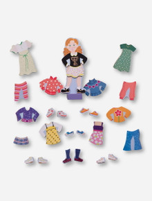Melissa & Doug Maggie Leigh Texas Tech Magnetic Dress-Up Doll Set