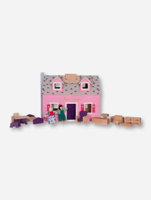 Melissa & Doug Texas Tech Fold-and-Go Dollhouse Set