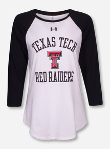 Under Armour Texas Tech Red Raiders Black & White Raglan
