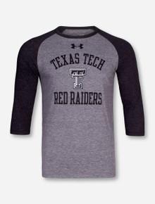 Under Armour Texas Tech Red Raiders Heather Grey & Charcoal Raglan