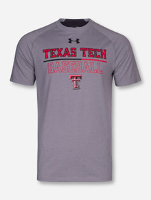 "Under Armour Texas Tech Baseball 2017 ""On the Field"" Grey Charged Cotton T-Shirt"
