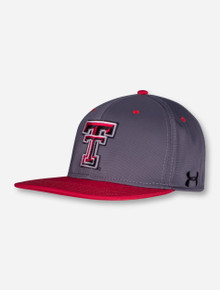 "Under Armour Texas Tech 2017 ""On The Field"" Charcoal Stretch Fit Cap"