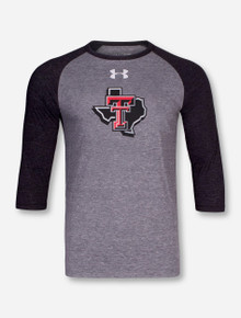 Under Armour Texas Tech Lone Star Pride Heather Grey & Charcoal Raglan