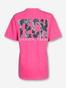 """Lubbock, TX TECH """"Palm Beach"""" on Crunchberry T-Shirt"""
