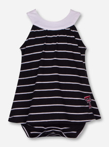"Garb Texas Tech ""Sarah"" Striped Onesie Dress"
