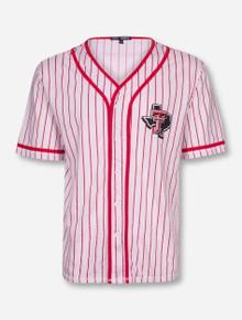 Texas Tech Lone Star Pride Red Pinstriped Baseball Jersey Shirt
