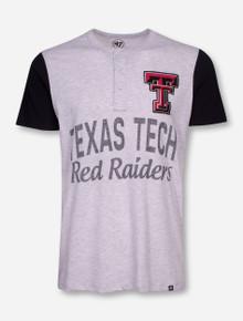 """Texas Tech """"Walk Off"""" Heather Grey Button Front T-Shirt"""