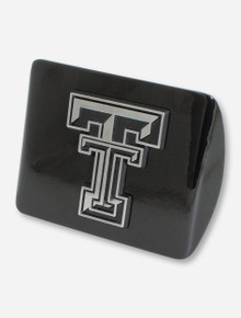 Texas Tech Chrome Double T on Black Hitch Cover