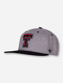 "47 Brand Texas Tech ""Quake Captain"" Grey Snapback Cap"