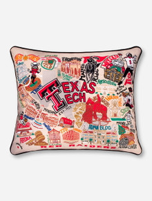 Catstudio Hand Stitched Extra Large Texas Tech Red Raiders Decorative Pillow