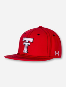 "Under Armour Texas Tech 2017 ""On the Field"" Throwback Red YOUTH Cap"