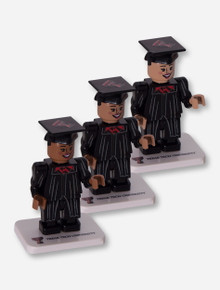 Lego Compatible Texas Tech Red Raiders Female Graduate Minifig