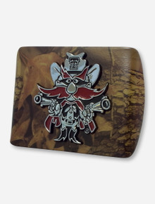 Texas Tech Raider Red on Camo Hitch Cover