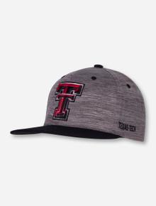 "Top of the World Texas Tech ""Backstop"" Grey Flat Bill Snapback Cap"