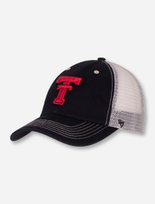 "47 Brand Texas Tech ""Taylor Closer"" Black & White Stretch Fit Cap"