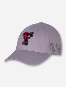 """Top of the World Texas Tech """"Rails"""" Grey Stretch Fit Cap"""