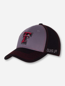 """Top of the World Texas Tech """"Dynamic"""" Black Stretch Fit Cap"""