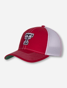 """Legacy Texas Tech """"Spacer Mesh"""" Red & White Stretch Fit Cap"""