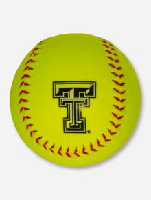 Texas Tech Double T Neon Yellow Softball