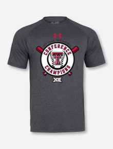 Under Armour Texas Tech Red Raiders Big XII Champions Heather Charcoal T-Shirt