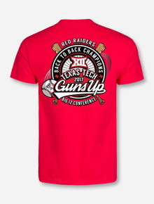 """Texas Tech Red Raiders Big XII Champions """"Back to Back"""" Red T-Shirt"""