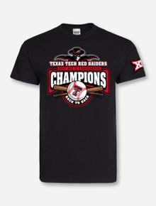 "Texas Tech Red Raiders Big XII Champions ""Crossed Bats"" Black T-Shirt"