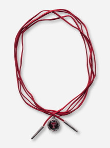 Texas Tech Double T Pendant with Rope Border Wrap Around Choker