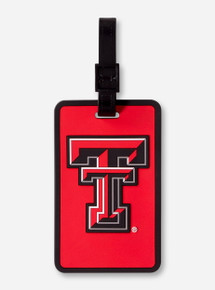 Texas Tech Double T Black & Red Silicone Luggage Tag