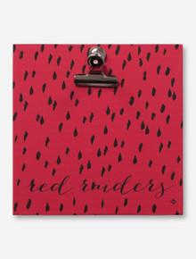 Dry Brush Mark Red Raiders Script Red Clip Frame