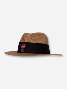 """Texas Tech Double T """"Angler"""" Twisted Straw Hat"""