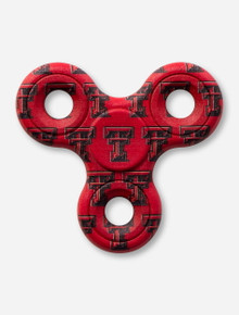 Texas Tech Red Raiders Double T Pattern Red Fidget Spinner