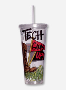 Texas Tech Guns Up Travel Tumbler with Straw