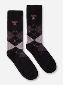 Texas Tech Double T Argyle Crew Socks