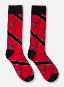 Texas Tech Double T Diagonal Stripe Dress Socks