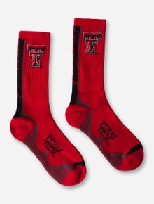 Texas Tech Double T Red Crew Socks