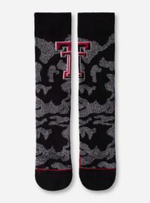 47 Brand Texas Tech Black & Grey Camo Crew Socks