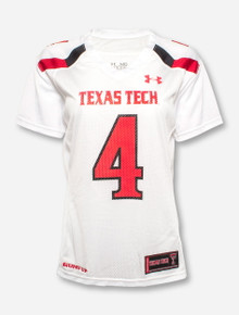 "Under Armour Texas Tech ""Replica"" #4 Women's Jersey"