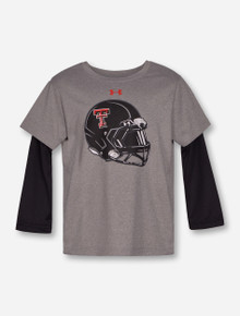 "Under Armour Texas Tech ""Mega Rush"" Grey & Black TODDLER Long Sleeve"