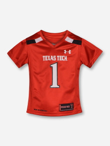 Under Armour Texas Tech Replica #1 GIRLS Red Jersey