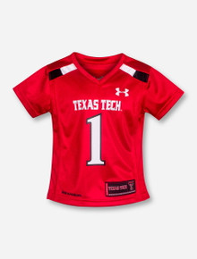 Under Armour Texas Tech Replica #1 TODDLER GIRLS Red Jersey