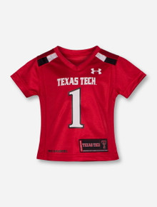 Under Armour Texas Tech Replica #1 INFANT GIRLS Red Jersey