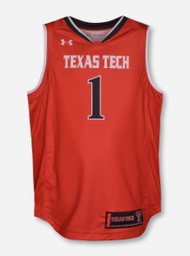 Under Armour Texas Tech #1 YOUTH Basketball Jersey