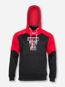 Under Armour Texas Tech Double T Storm Black & Red Hoodie