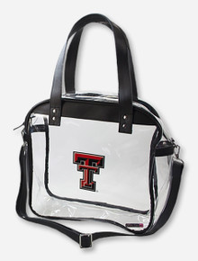 Texas Tech Double T Zippered Stadium Approved Clear Purse