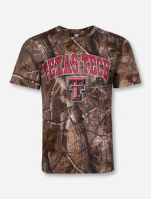 Texas Tech Arch over Double T on Camo T-Shirt