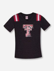 "Arena Texas Tech Red Raiders ""Rugby"" Sequin T-Shirt"