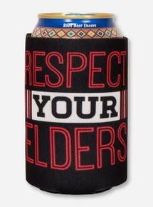 Texas Tech Alumni - Respect Your Elders on Black Koozie