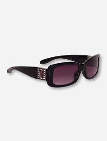 Texas Tech Square Crystal Double T Chantilly Sunglasses