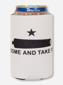 Come & Take it on White Koozie - Texas Tech